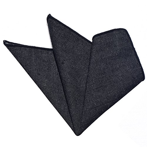 DonDon Pañuelos de bolsillo algodón en Jeans Look para hombre negro