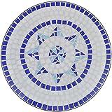 vidaXL Mosaik Gartentisch Ø 60cm Beistelltisch Mosaiktisch Tisch Gartenmöbel - 5