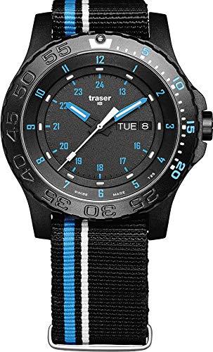 Traser H3 Watches Blue Infinity Textil schwarz-blau 105545