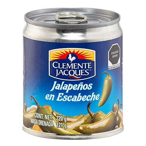 Chiles Jalapeños Enteros 220 Gram Clemente Jacques