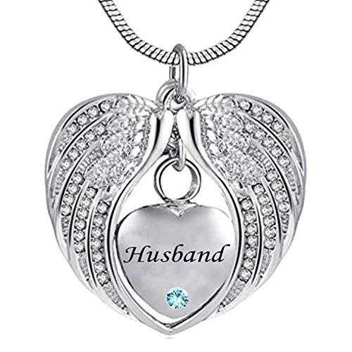 CHUTD Collares para Cenizas Corazón Cristal Recuerdo Pet Memorial Siempre en mi corazón Colgantes