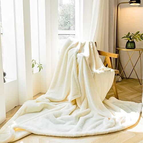 QZXCD deken, dik, voor kantoor, winter, warm, koraal, fluweel, haas fluweel, bedlaken Siesta stapelbed