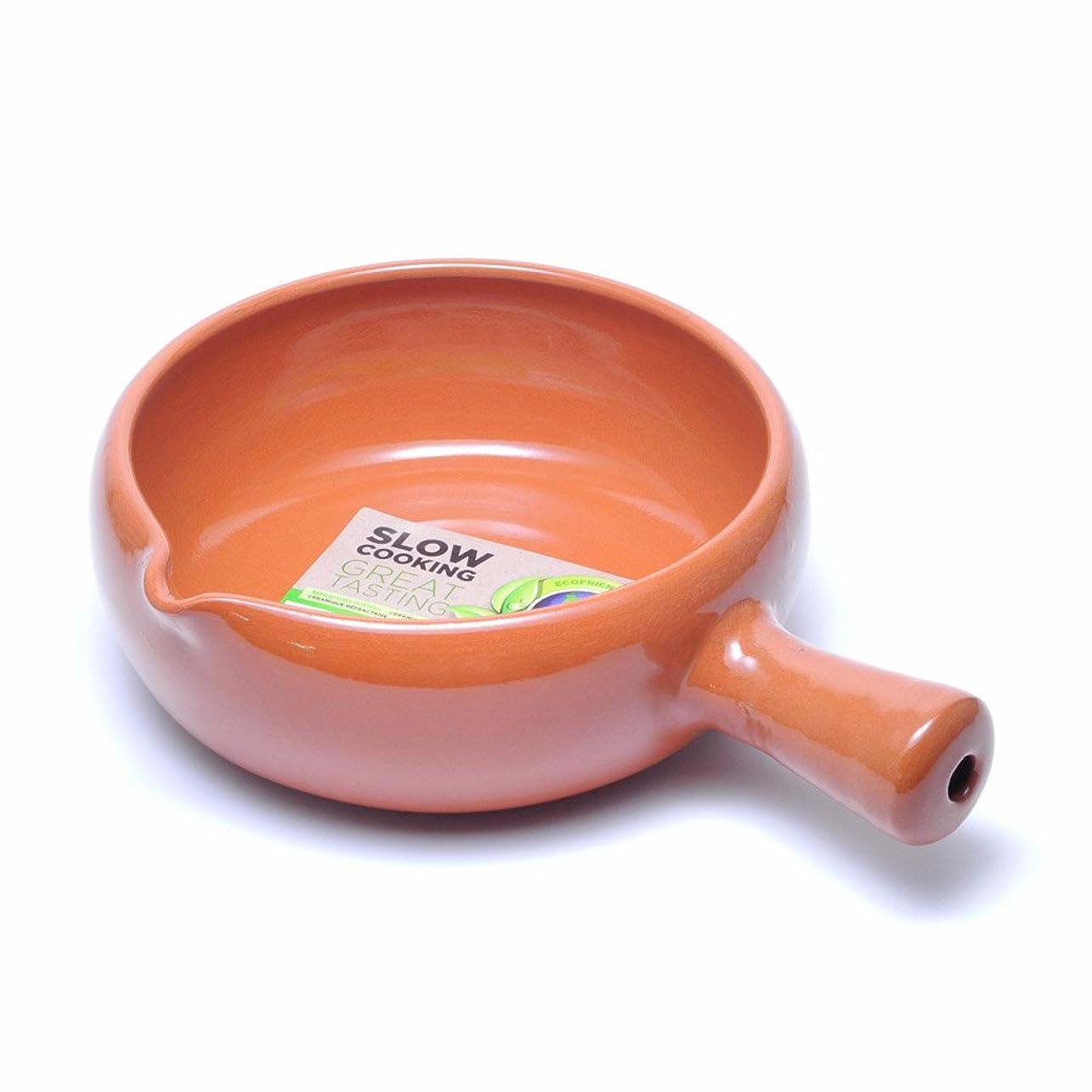 挑発するスリーブ性的Graupera スペイン製 カスエラ 深型 片手鍋 アヒージョ用 直火 オーブン 耐熱 陶器 土鍋 20cm