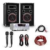electronic star Set de DJ PA Easy - auna Amp-2 BT Amplificad
