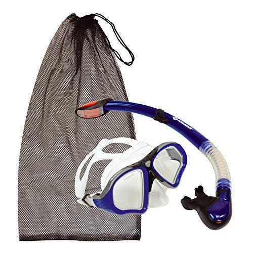 Schildkröt Premium Schnorchelset Palau 2-teilig, Brille, Schnorchel Dry-Top, ABC Set, Tauchset für Erwachsene und Jugendliche, hochwertiges Silikon, perfekte Passform, inkl. Netztasche, 940013