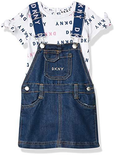 DKNY Baby Girls' Skirt Set, Skirtall bleaker Medium Wash, 18M