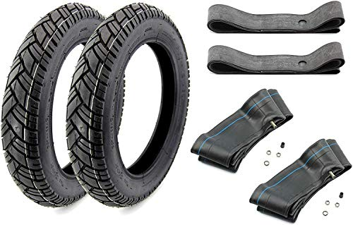 Reifen Komplett Set 6-teilig VRM 094-2,75 x 16 Zoll 2x Reifen 2x Schlauch 2x Felgenband