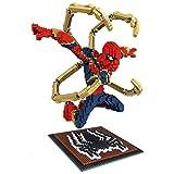 Mopoq レンガのおもちゃ、スパイダーマン、クリエイティブ・ダイヤモンド小粒子は、ビルディング・ブロッククリエイティブ玩具教育玩具、PVC環境保護を組み立て