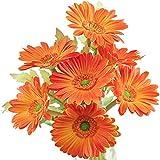 YYHMKB Bouquet di fiori artificiali di gerbere di seta 7 steli | Per decorazioni per feste...
