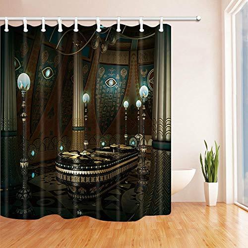 /N Zwei gelbe Füchse Wasserdichter Stoff Bad Duschvorhang
