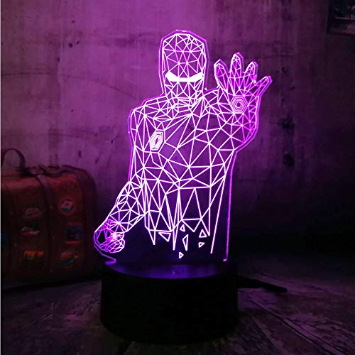 jiushixw 3D acryl nachtlampje met afstandsbediening kleur tafellamp bureau kerstmis kind geschenk cartoon staande lamp met dienblad tafel