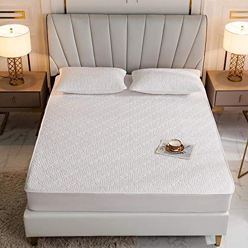haiba Sábana bajera ajustable para cama individual, microfibra cepillada suave y resistente a las arrugas, 180 x 200 + 15 cm