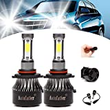 9005/HB3 LED Headlight Bulb 240W 24000LM Conversion Kit for High/Low Beam Daytime Running Lights HID or Halogen Replacement Kit H10 9140 9145 LED Fog Light Bulbs 6000K Cool White 3 Years Warranty