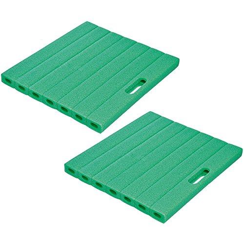 com-four® 2X Kniekissen für den Garten - Kniematte für die Gartenarbeit - Kniepolster - Knieschutzmatte - ca. 35 cm x 30 cm x 2,5 cm (2 Stück - 35 x 30 cm)