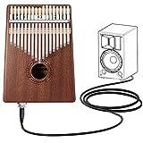 Kalimba 17 Clave Thumb Piano Instrumento con Herramienta de Ajuste y Bolsa de...