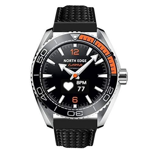 Reloj NORTH EDGE para hombre, digital, militar, de estilo deportivo e informal, resistente al agua, con luz LED de fondo, altímetro, brújula, cronómetro, alarma y pulsera multifunción, hombre, negro