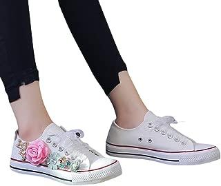 Emimarol Women Flat Memory Foam Cushioned Insole Casual Slip-On Loafers Sneakers Shoes
