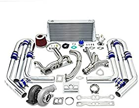 High Performance Upgrade GT45 T4 10pc Turbo Kit - Chevy Small Block SBC Engine