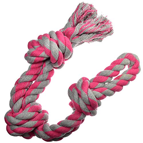 Dog Toys for Aggressive Chewers - 1 Nearly Indestructible Dog Toy - Large Dog Toys - Durable Heavy Duty Dog Toys - Dog Chew Toys - Rope Dog Toy - Tug of War Dog Toy for Large Breed - Tough Dog Toys