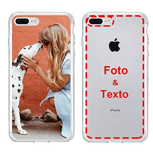 MXCUSTOM Funda Personalizada para Apple iPhone 7 Plus / 8 Plus, Carcasa Personalizado Telefono movil Transparente Blando TPU con Foto Imagen Texto Disena (FXT-CR-P1)