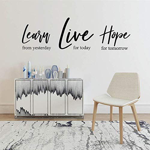 Learn Live Hope Wall Decal Learn Live Hope Inspirational Wall Sticker Vinyl Wall Quote Decal Learn Live Hope Wall Decor 50X15Cm