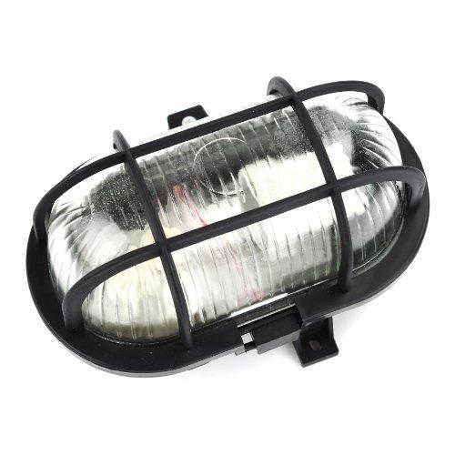 Plafondlamp ovaal zwart kelderlamp Bulleye lamp 60W