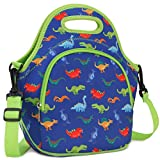Lunch Bag for Boys, Neoprene Lunch Box Bag for Kids Cute Insulated Thermal Lunch Tote with Removable Shoulder Strap, Dinosaur by VX VONXURY