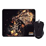 Combo Gamer Arena - Mouse Gamer 2.400 DPI + Mousepad 290X230 MM - OEX