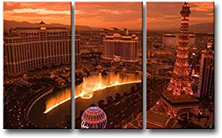 3 piece Brown Wall Art Painting Las Vegas Sunset Prints On Canvas The Picture City Pictures Oil For Home Modern Decoration Print Decor