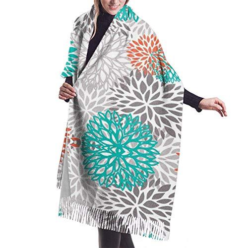 engdingxiansizhefuzhua Übergroße Blumen Damen Quaste Schal Winter warme Mode Kaschmir elegante Decke für Frauen 7727in