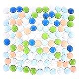 DZX Jarrones creativos, Piedras de Vidrio, Piedras Preciosas Redondas Decorativas para Acuario, Tanque de Tortuga, Relleno de jarrón, terrario, decoración de macetas