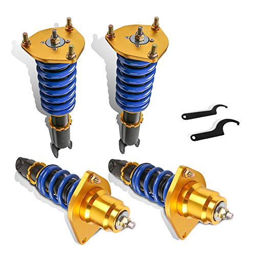 MOSTPLUS Full Coilovers Struts Compatible with 2004-2011 Mazda RX-8 RX8 Lowering Adjustable Height Shock Absorber Assembly (Set of 4)
