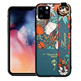Avecell Hand Strap Holder Case for 6.5' iPhone 11 Pro Max with Convertible Stand, Pattern Cover Soft Silicone Bumper Adjustable Handle Grip for iPhone 11 Pro Max (2019 Release), Floral