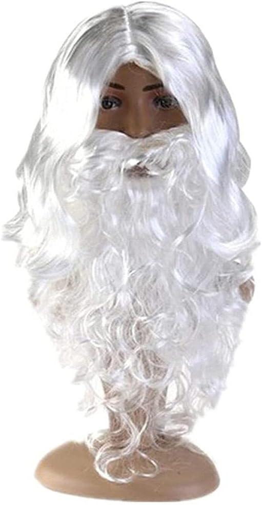 Gefemini Santa Claus Max 70% OFF Hair Product Father Christmas Lon Beard White
