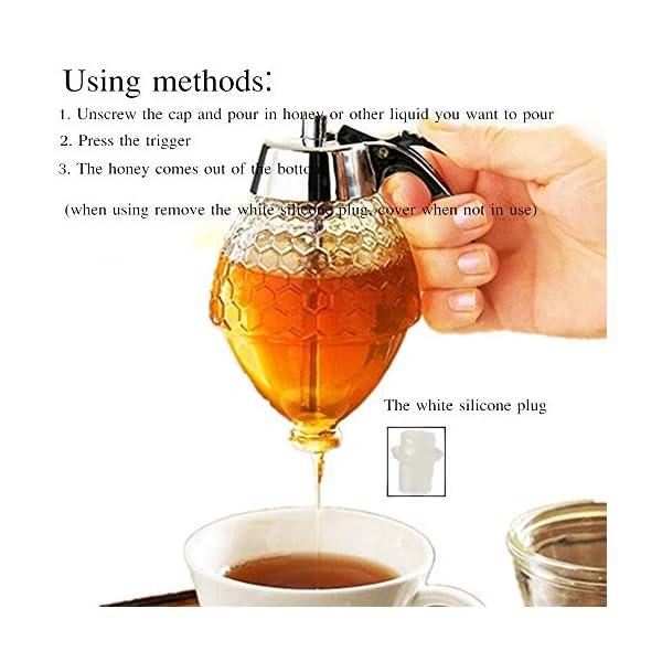 PROBEEALLYU Dispensador de miel, jarabe de jugo y miel, botella de exprimir,