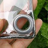 Bâche en Plastique imperméable de PVC de Transparente avec des Oeillets, des couvertures de Feuille d'usine de Fleur Anti-Pluie, 400g / m² (Taille : 2.4m×5m)