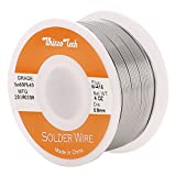 Whizzotech Solder Wire 60/40 Tin/Lead Sn60Pb40 with Flux Rosin Core for Electrical Soldering 4oz/100g/0.22lb Diameter 0.032 Inch/0.8mm