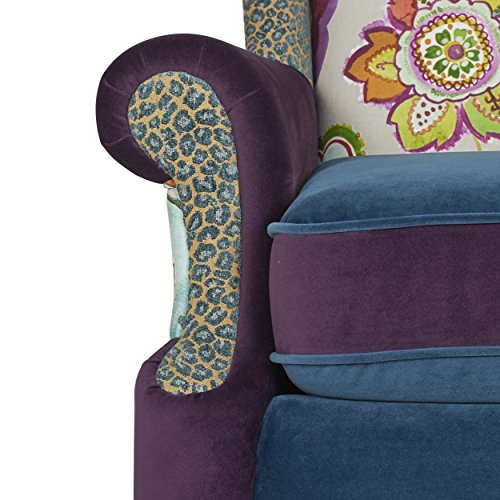 Jennifer Taylor Home Anya Accent Chair, Large, Multicolored Floral