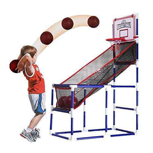FXQIN Canasta Baloncesto Infantil, Juguetes de Baloncesto Basketball Shot Set con 2 Pelotas y Bomba, para Interior y Exteriores, PVC, 92x47x140 cm