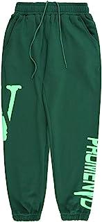 Arnodefrance V Print Pants Hip Hop Letter Pocket Yoga Jogging Leisure Trousers Cotton Outdoor Hiking Running Sweatpant