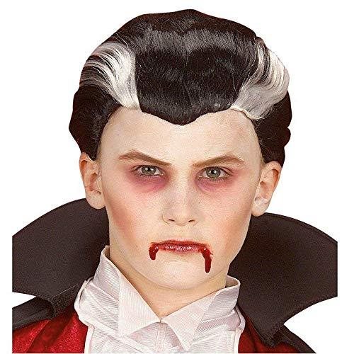 Lively Moments Kinderperücke / Perücke / Wig Kleiner Vampirlord Silber - schwarz Kinderkostüm Vampir Halloween