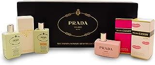 Prada Variety By Prada For Women 6 Piece Mini Variety With Les Infusion De Prada Iris .27 Oz & Les Infusion De Prada Fle