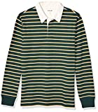 Amazon Brand - Goodthreads Men's Long-Sleeve Striped Rugby, Pine Green Gold Double Stripe, XX-Large
