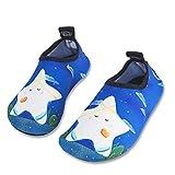 [page_title]-HMIYA Kinder Badeschuhe Wasserschuhe Strandschuhe Schwimmschuhe Aquaschuhe Surfschuhe Barfuss Schuh für Jungen Mädchen Kleinkind Beach Pool(Blau Xbb,24/25)
