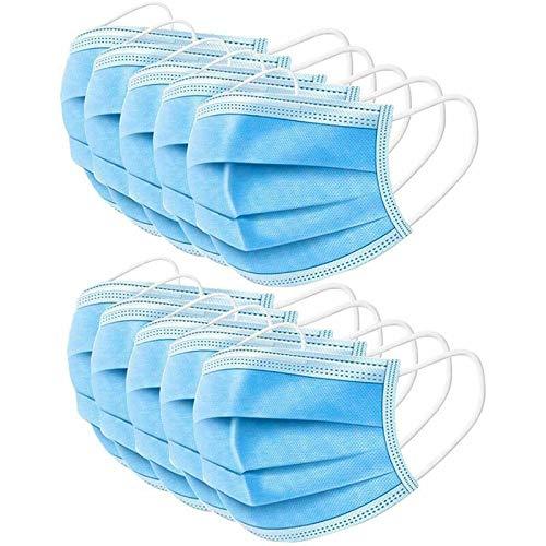 Shocknshop Blue Disposable Powder-Free Nitrile Surgical Rubber Hand Gloves And Face Mask - 80 Piece (40 Gloves+40 Masks)