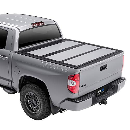 A.R.E. Fusion Painted Hard Fold Truck Bed Tonneau Cover   AR32008L-JSC   fits 2019-2020 Dodge RAM 5' 7inches bed, Paint Code: JSC Billet Silver
