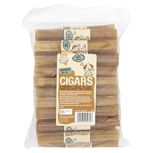 Good Boy - Rawhide Cigars - Dog Chews - Made From 100 Percent Natural Hide - Pack of 25 - Dog Treats Natural