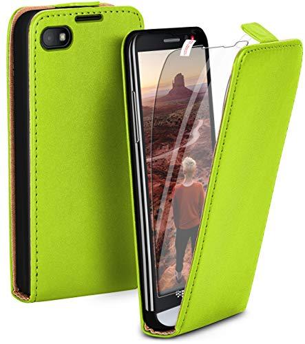 moex Flip Hülle mit Schutzfolie für BlackBerry Z30 - Handytasche klappbar, Grün