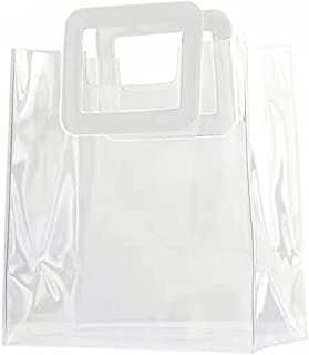 Toniper Clear Bag, PVC Transparent Tote Bag, Stadium Approved Handbag, Clear Plastic Gift Bags, Great for Sports Games, Wo...