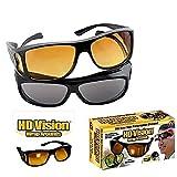 PERFECT SHOPEE Set of 2 Day & Night Unisex HD Vision Goggles Anti-Glare